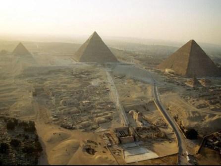 Piramides de Egipto desde el aire