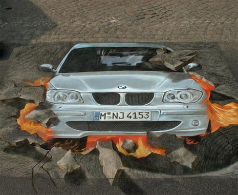 Publicidad en Pinturas 3D - Publicidad BMW