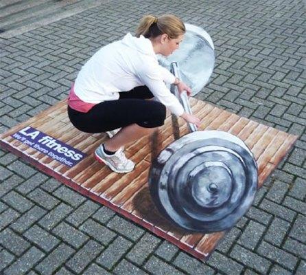 Publicidad en Pinturas 3D - Publicidad LA Fitness