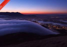 Niebla como Mares en la Bahía de San Francisco.