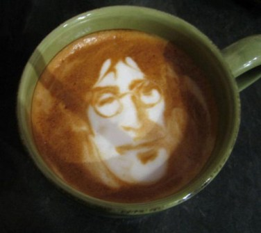 Coffee Art John Lennon