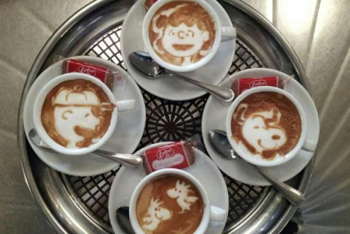 Coffee Art Snoopy
