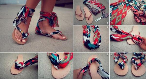 DIY - Sandalias con tus colores favoritos