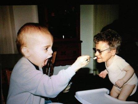 Montajes fotográficos - Abuela con nieto