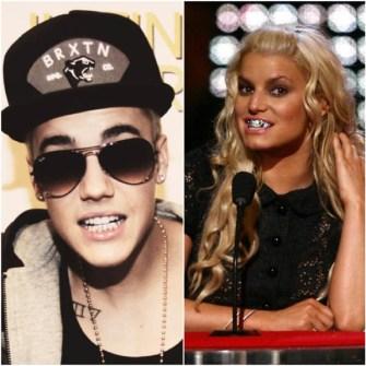 Bling Dental o Moda Grill - Justin Bieber y Jessica Simpson-grillz