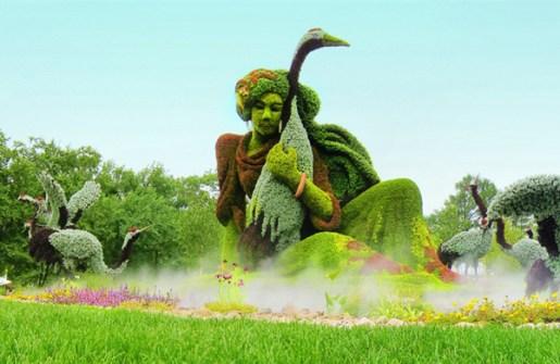 Mosaiculture en Montreal - Esculturas Vegetales