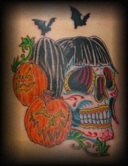 Tatuajes para Halloween con Calabazas y Calaveras