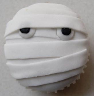 Cupcakes para Halloween de momias