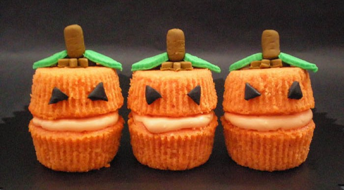 Cupcakes para Halloween con Decoración de Miedo.