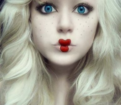 Maquillaje para Halloween de chica
