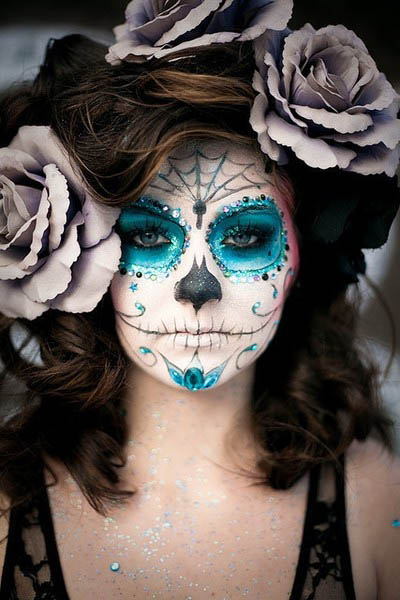 maquillaje para halloween calaveras mexicanas - Maquillaje Halloween