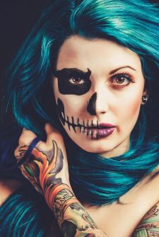 Maquillaje para Halloween de calavera