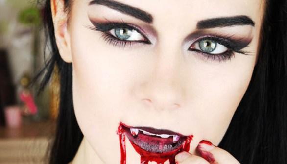 Maquillaje para Halloween de vampira
