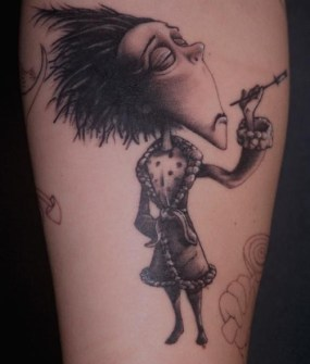 Tatuajes con personajes de Tim Burton