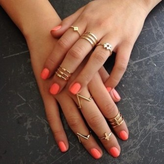 Mini anillos o Knuckle rings