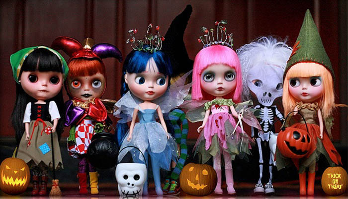 Muñecas Blythe para Halloween.
