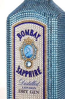 Bombay Sapphire  con Cristales de Swarovski