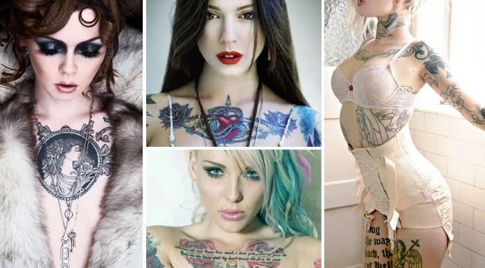 34 Tatuajes en el Pecho para Chicas.