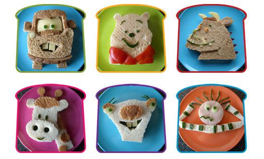 Sandwiches creativos para niños