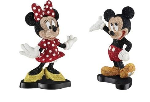 Minnie y Mickey Mouse  con Cristales de Swarovski