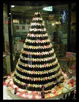 26 Árboles de Navidad Diferentes - Árbol de Navidad hecho con Sushi