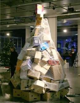 26 Árboles de Navidad Diferentes - Árbol de Navidad con cajas de cartón