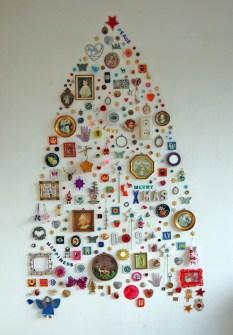 26 Árboles de Navidad Diferentes - Árbol de Navidad collage mural