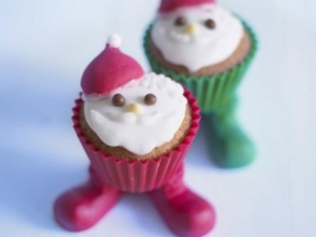 Christmas Cupcakes - Santa cupcakes