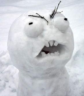 Muñecos de Nieve Divertidos y Originales - Muñeco de nieve Meme