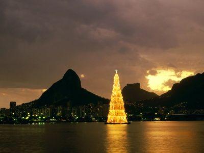 26 Árboles de Navidad Diferentes - Árbol de Navidad flotante en Río de Janeiro