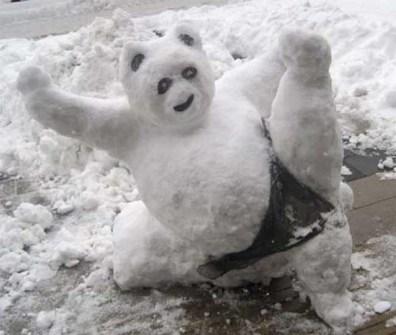 Muñecos de Nieve Divertidos y Originales - Kunfu Panda