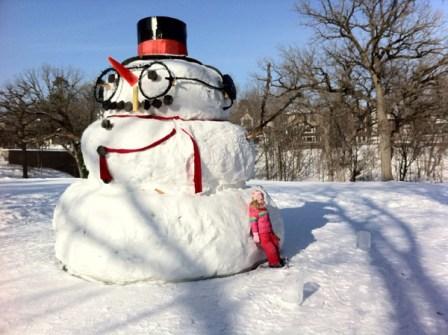 Muñecos de Nieve Divertidos y Originales - Muñecos de nieve gigantes