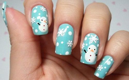 Ideas para Decorar Uñas en Navidad - Uñas con muñecos de nieve
