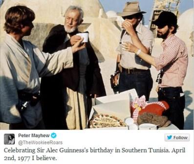 Fotos inéditas de Star Wars - Celebrando un cumpleaños
