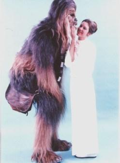 Fotos inéditas de Star Wars - Chewbacca con la Princesa Leia