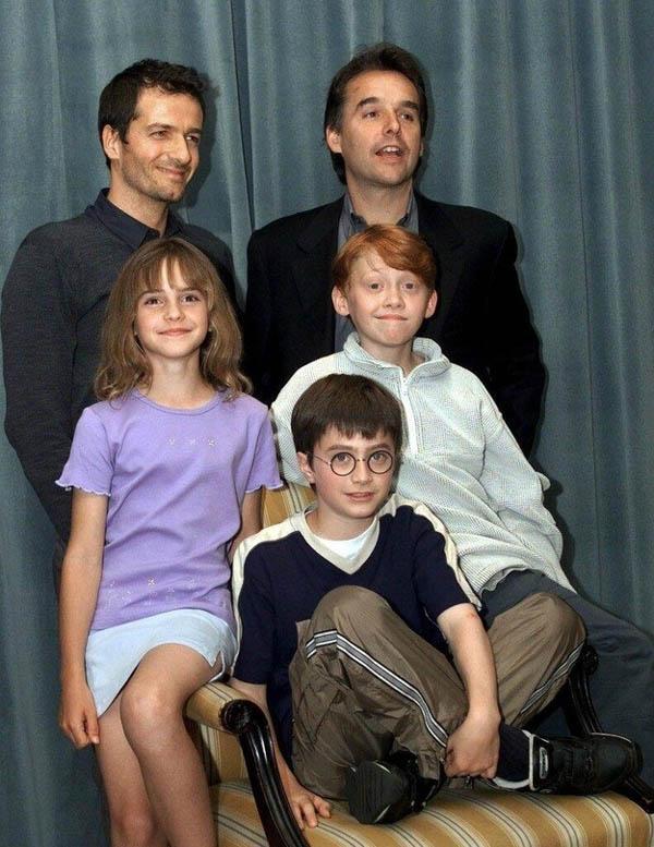 Los protagonistas de Harry Potter hace 13 años