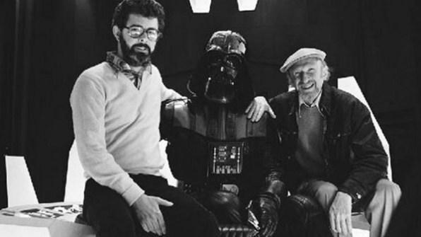 Fotos inéditas de Star Wars - Darth Vader con George Lucas