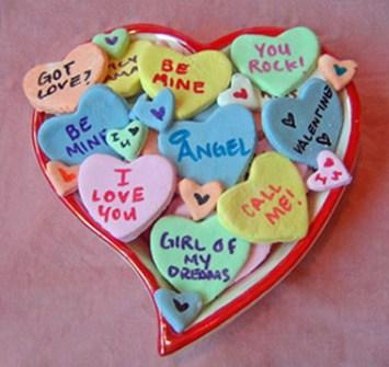 Detalles Geniales para San Valentín - Caramelos con mensaje en forma de Corazón