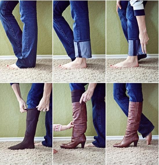 Trucos Caseros - Cómo ponerte botas altas con pantalones anchos