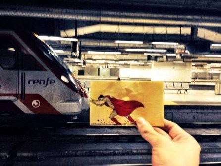 Máxima Creatividad en un pequeño Post-it - Superman