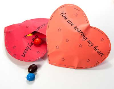 Detalles Geniales para San Valentín - Sobre sorpresa con forma de Corazón