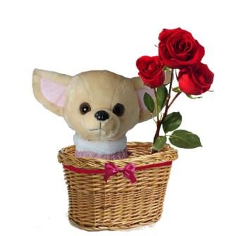 Regalos DIY para San Valentín - Regala lo clásico, un peluche y unas flores
