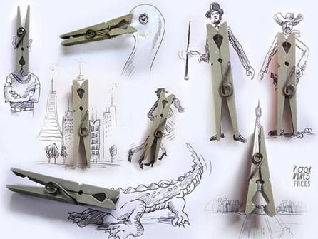 Ilustraciones en 3D que están a tu alcance - Pinzas de la ropa