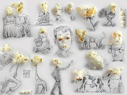 Ilustraciones en 3D que están a tu alcance - Palomitas