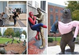 15 Fotos con Estatuas para Echarte unas Risas.