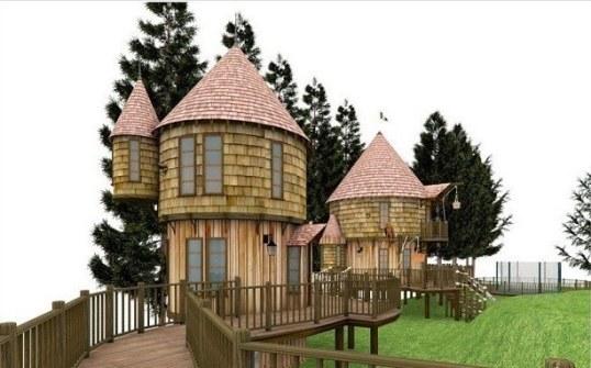 Los Mejores Patios Traseros - Casas árbol de Harry Potter