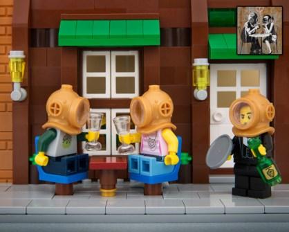 Fusión de Banksy y LEGO - Banksy Divers