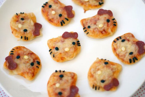 Bocaditos de Hello Kitty - Mini Pizzas