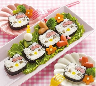 Bocaditos de Hello Kitty - Sushi de Hello Kitty