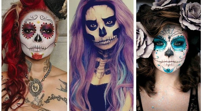 Chicas guapas con Maquillaje para Halloween